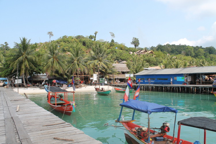 The pier on Koh Rong, one of the best places to relax in Southeast Asia