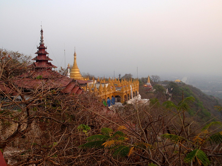 Mandalay hill, in one of the old capitals in Mandalay, Myanmar