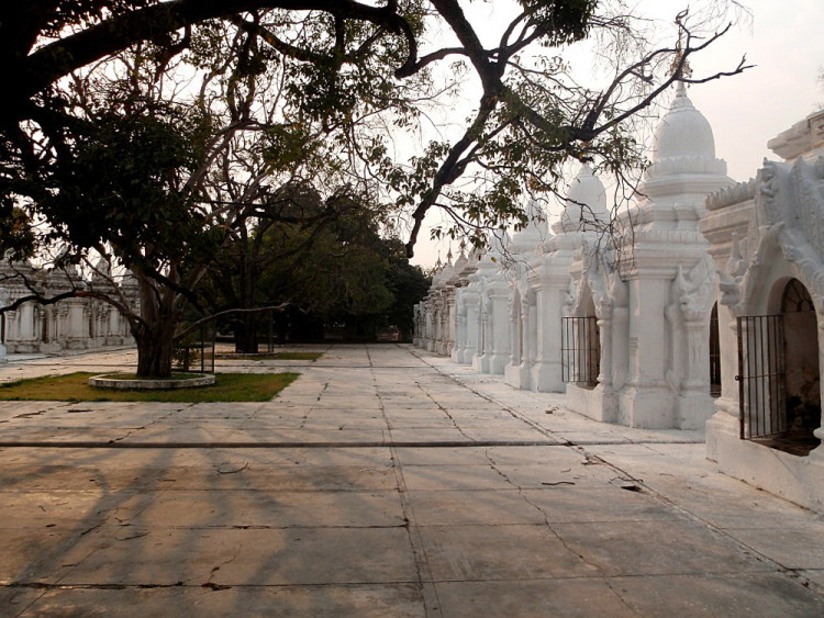 White temples, part of the old capitals in Mandalay tour in Myanmar