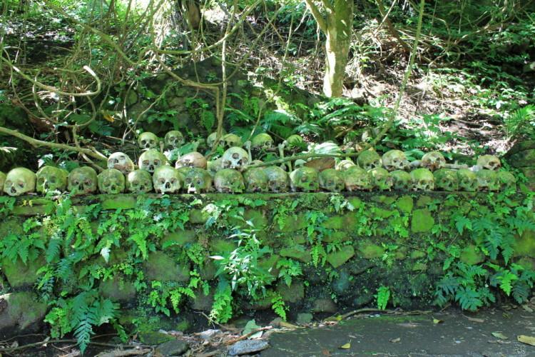 An open graveyard near Ubud, in Bali, Indonesia