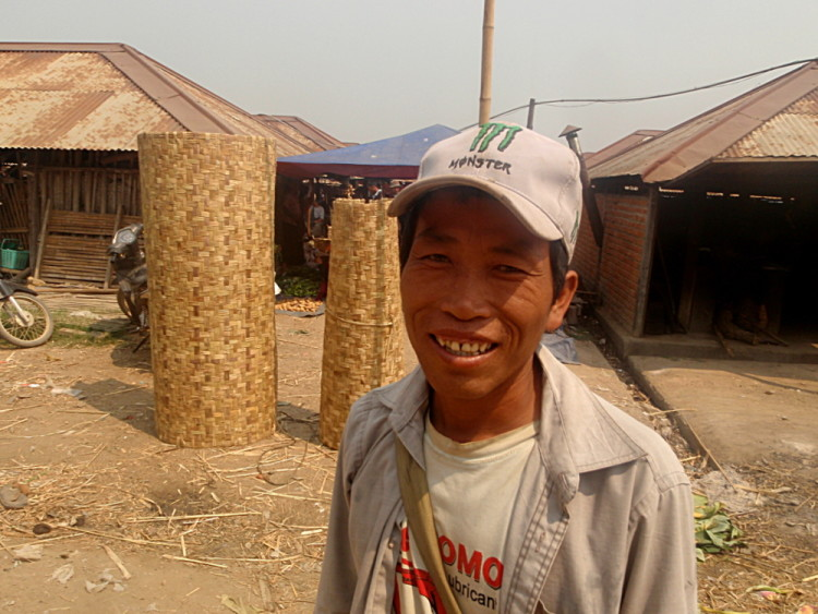 A man at the market on Inle Lake, Burma (Myanmar)