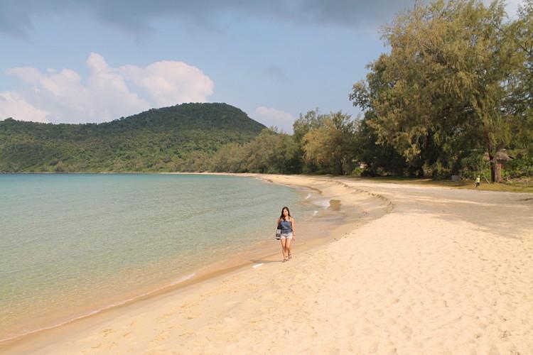Beautiful Lazy Beach on Koh Rong Samloem, Cambodia