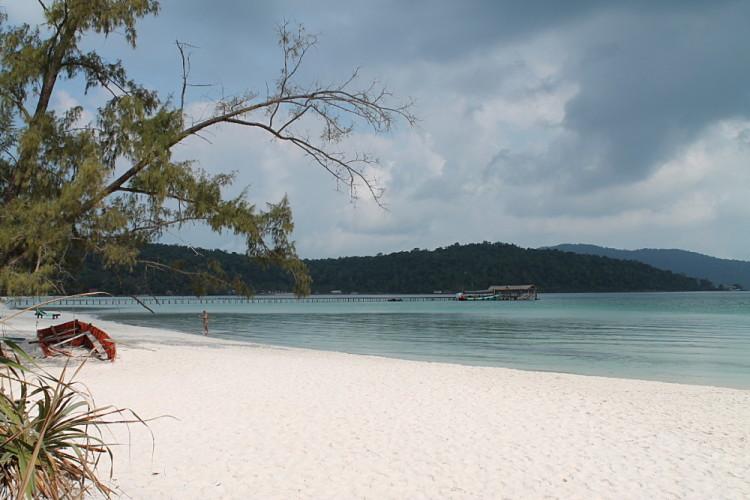 Saracen Bay on Koh Rong Samloem, Cambodia