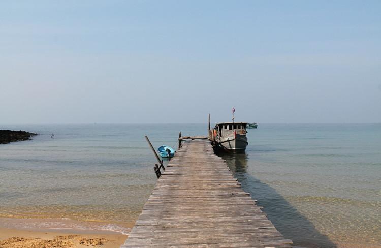 The pier at Lazy Beach, Koh Rong Samloem, Cambodia