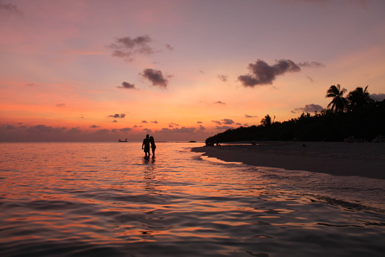 Sunset on Asdu Sun Island, the Maldives