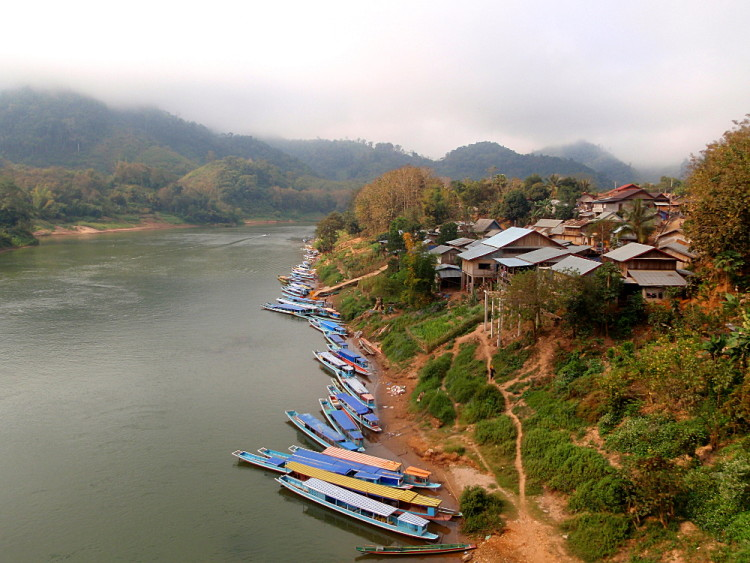 Boats in Nong Khiaw, Laos