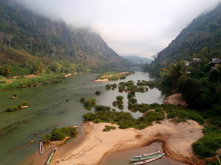 The Nam Ou River in Nong Khiaw, Laos