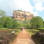 Climbing the Lion Rock in Sigiriya, Sri Lanka