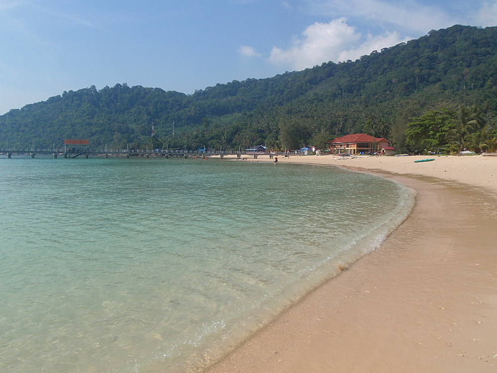 Salang beach on tioman, one of the best islands in Malaysia