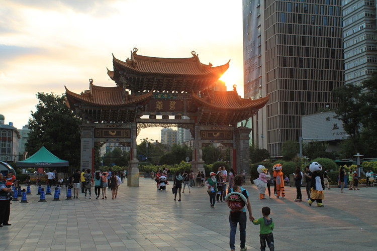 Kunming, the biggest city you'll see while backpacking in Yunnan, China