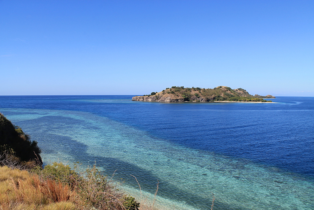 The view from the top of a hill in the 17 Islands Marine Park in Riung, Flores, Indonesia