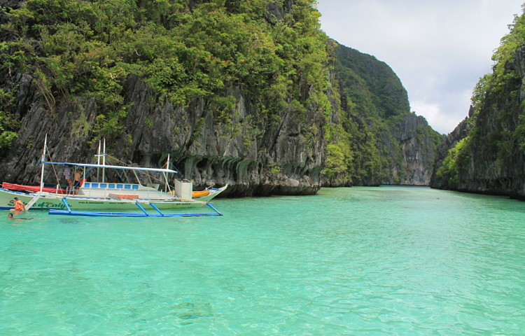 Snorkeling while island hopping in El Nido, Palawan, The Philippines