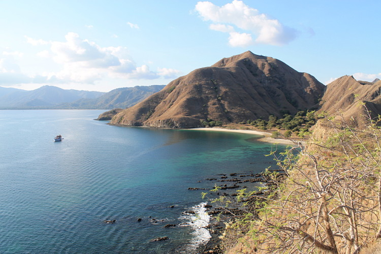A beach view in Komodo National Park, Flores, Indonesia
