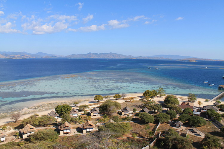 A view from the hill on Kanawa Island, near Komodo National Park, Flores, Indonesia