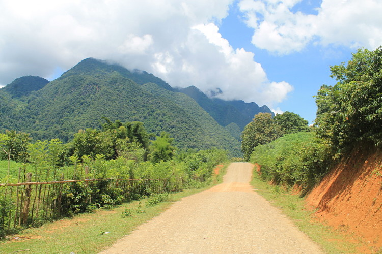 The road out of Muang Ngoi, Laos