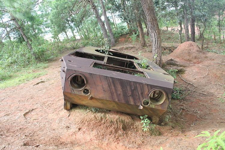 A Russian tank in Phonsavan, Laos