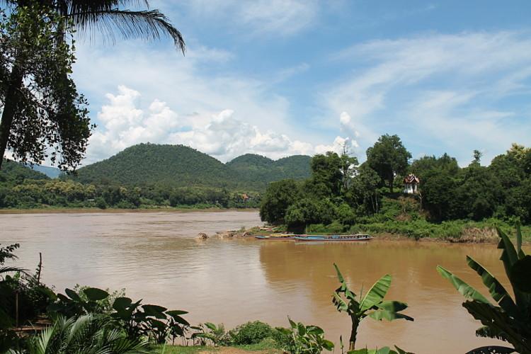 Where the Mekong and Nam Khan Rivers meet