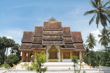 The palace near the National Museum in Luang Prabang, Laos