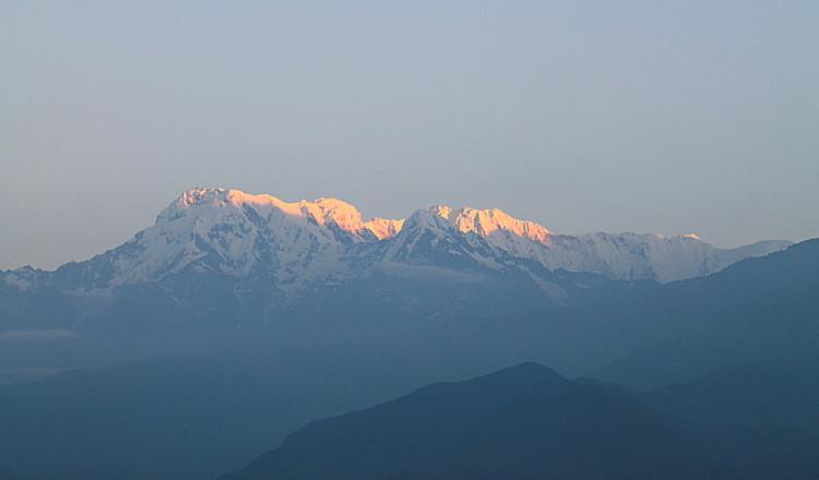 Annapurna range during the sunrise in Sarangkot