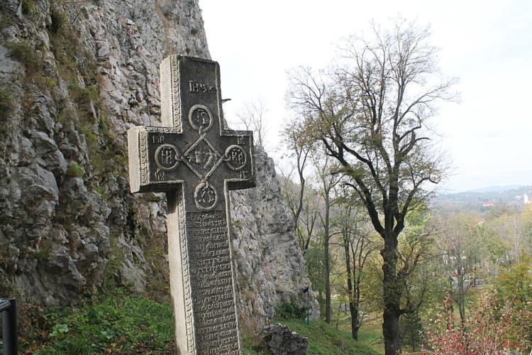 A cross at Bran Castle, Transylvania, Romania
