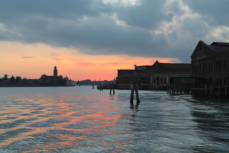 Romance in Venice - sunset in Murano