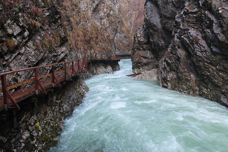 Vintgar Gorge, an awesome natural wonder near Lake Bled, Slovenia