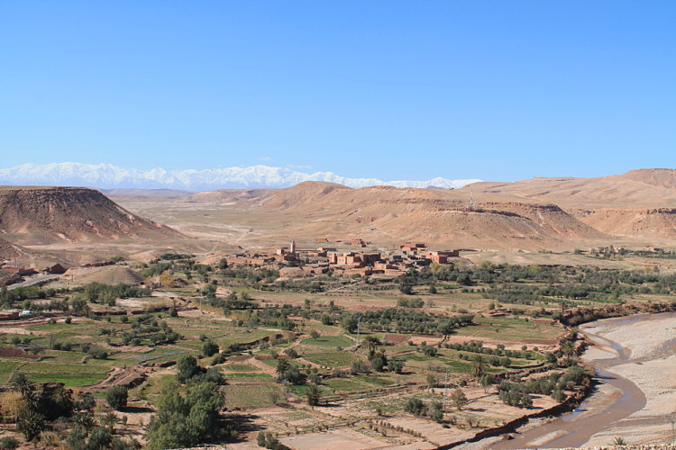 The atlas mountains from Aït Benhaddou, Morocco