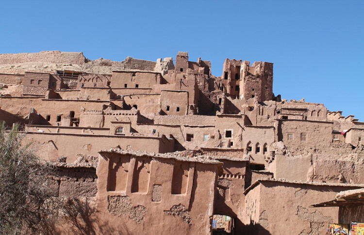 Mud brick houses at Aït Benhaddou, Morocco