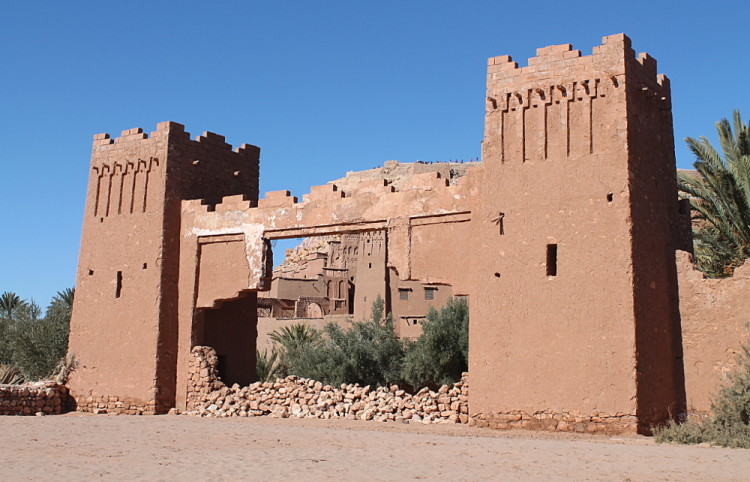A gate at Aït Benhaddou, Morocco