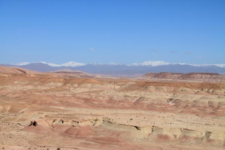 Desert scenery from Aït Benhaddou, Morocco