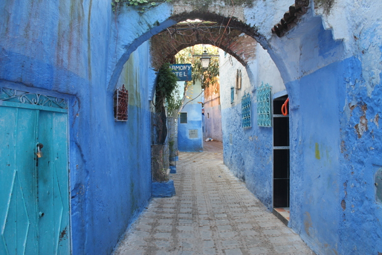 The medina of Chefchaouen, a blue town in Morocco