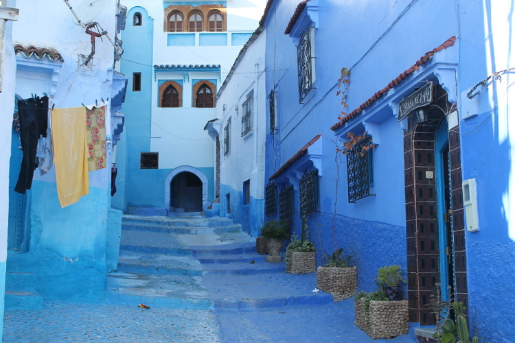 The winding Medina of Chefchaouen, the blue town in Morocco