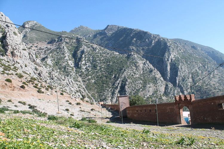 The Rif Mountains near Chefchaouen, the blue town in Morocco