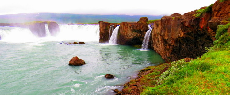 Godafoss falls, Iceland, one of the best natural wonders in Europe