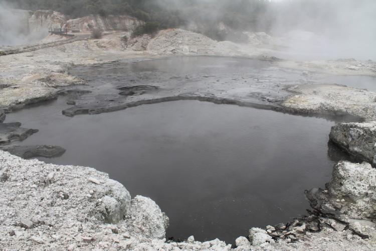 A lake at Hells Gate, Rotorua, New Zealand