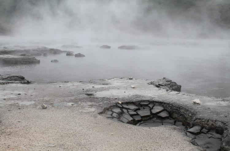 Mud pools at Hell's Gate, Rotorua, New Zealand