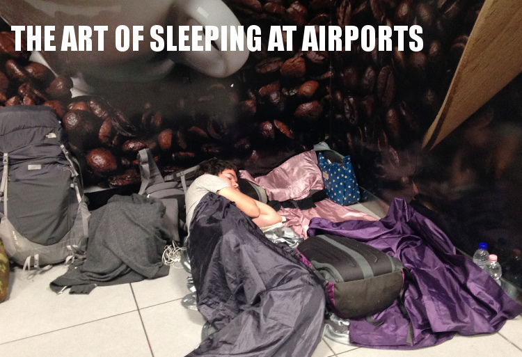 travel tips on sleeping at airports
