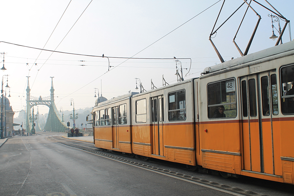 A year on the road: A tram in Budapest, Hungary