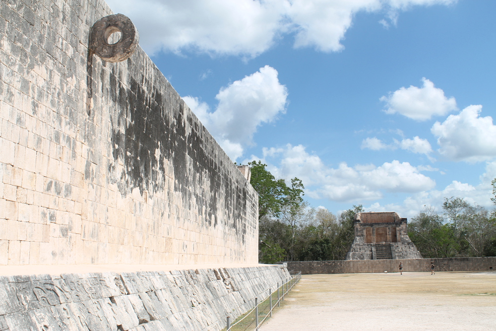 The ball court at Chichen Itza, Mexico