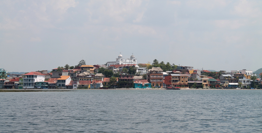 Flores, Guatemala from a boat
