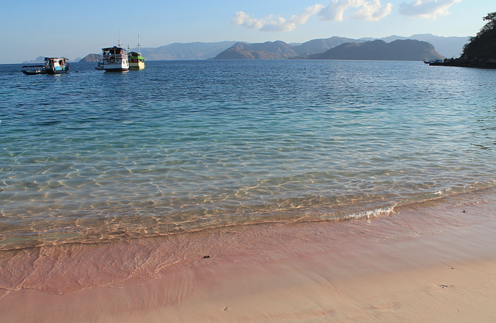 A year on the road: Pink Beach, Indonesia