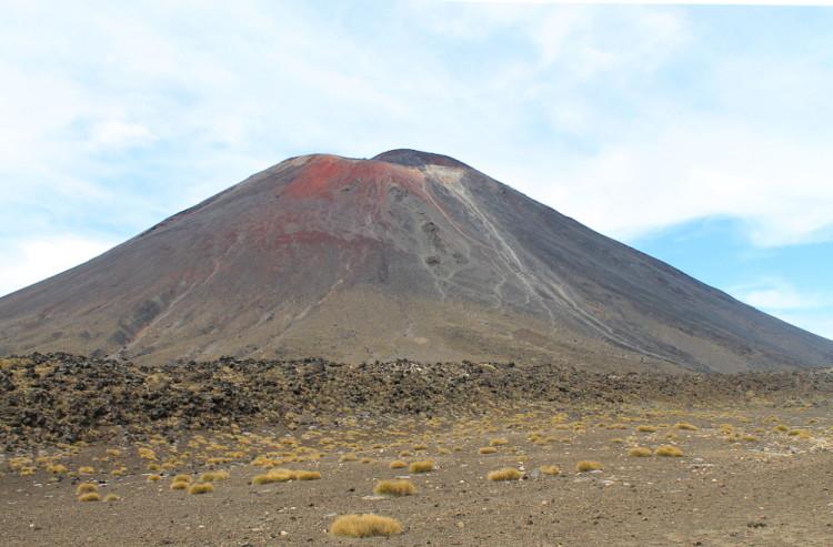 Mt Ngauruhoe, or Mt Doom, along the Tongariro Crossing day walk