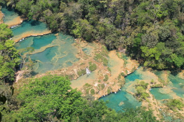 The view of Semuc Champey from El Mirador, Guatemala, Central America
