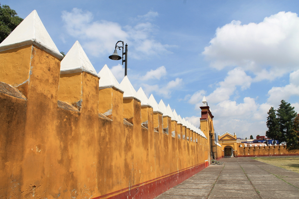 church-walls-cholula-mexico
