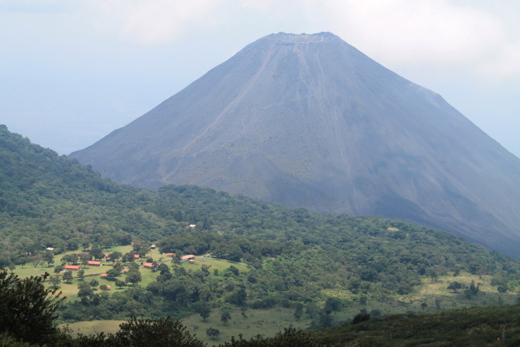 Izalco volcano seen from the slopes of Santa Ana volcano, El Salvador
