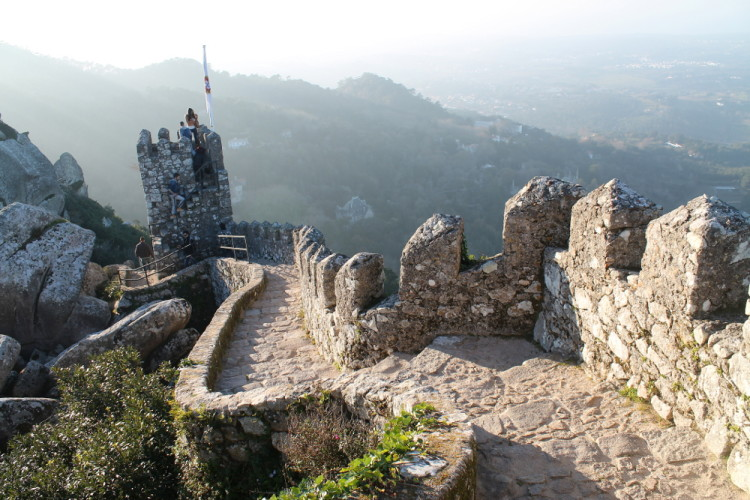 Castle of the Moors - the end of our day trip to Sintra, Portugal