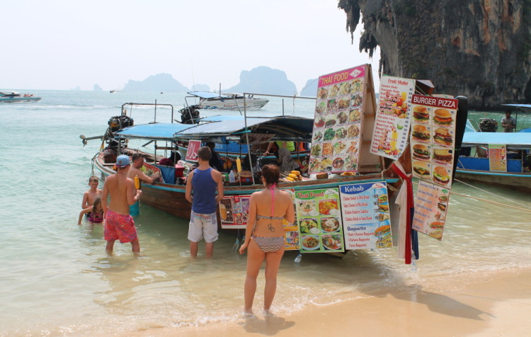 restaurant at Phra Nang Beach, part of the island hopping in Krabi tour
