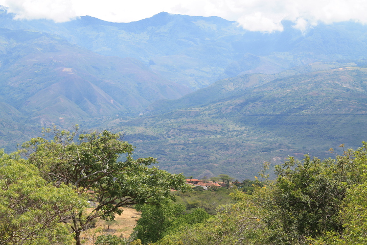 The Camino Real - from Barichara to Guane, near San Gil, Colombia