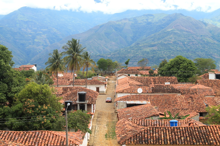 Guane - a small town at the end of the Camino Real from Barichara to Guane, Colombia