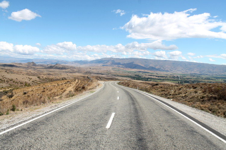 The road to St Bathans, New Zealand